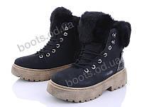 """Ботинки  женские """"Ideal"""" #K1315. р-р 36-41. Цвет черный. Оптом"""