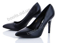 """Туфли женские  женские """"Loretta"""" #A19-10. р-р 36-40. Цвет черный. Оптом"""