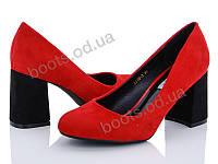 """Туфли женские  женские """"Loretta"""" #A116-2. р-р 36-40. Цвет красный. Оптом"""