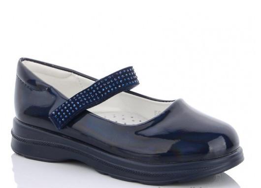Туфли детские синие,туфли на девочку,туфли детские школьные,Yalike 56-139