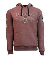 Толстовка Top Gun 3D Logo Hoodie TGD1912 (Brown)