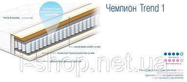 ЧЕМПИОН TREND 1 - ортопедический матрас ТМ СОНЛАЙН (Украина) 90*190