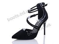 """Туфли женские  женские """"STILLI Group-Vintage"""" #L70-10. р-р 36-40. Цвет черный. Оптом"""