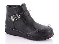 """Ботинки  женские """"Lion"""" #B5112. р-р 37-42. Цвет черный. Оптом"""
