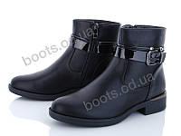 """Ботинки  женские """"Xifa"""" #759-6. р-р 37-41. Цвет черный. Оптом"""