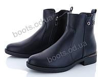 """Ботинки  женские """"Xifa"""" #759-15. р-р 37-41. Цвет черный. Оптом"""