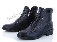 """Ботинки  женские """"Xifa"""" #759-22. р-р 37-41. Цвет черный. Оптом"""
