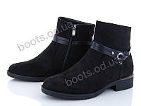 """Ботинки  женские """"Xifa"""" #759-16С. р-р 37-41. Цвет черный. Оптом"""