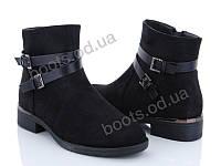 """Ботинки  женские """"Xifa"""" #759-21С. р-р 37-41. Цвет черный. Оптом"""