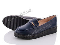 """Туфли женские  женские """"Xifa"""" #020-1. р-р 36-41. Цвет синий. Оптом"""