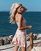 Женское платье на запах в цветочный принт Пудровый, фото 2