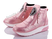 """Ботинки  женские """"Xifa"""" #YY1012-8. р-р 36-41. Цвет розовый. Оптом"""