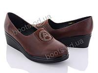 """Туфли женские  женские """"Xifa"""" #F3205-2brown. р-р 36-41. Цвет коричневый. Оптом"""