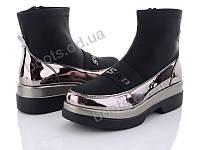 """Ботинки  женские """"Xifa"""" #512-2. р-р 36-41. Цвет черный. Оптом"""