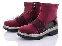 """Ботинки  женские """"Xifa"""" #511-7. р-р 36-41. Цвет бордовый. Оптом"""