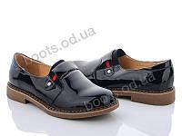 """Туфли женские  женские """"Xifa"""" #Y179-1. р-р 36-41. Цвет черный. Оптом"""