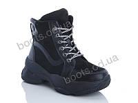 """Ботинки  женские """"Jin Lan"""" #A77-19. р-р 36-40. Цвет черный. Оптом"""