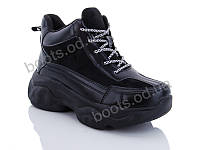 """Ботинки  женские """"Jin Lan"""" #A70-1. р-р 36-40. Цвет черный. Оптом"""