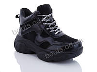 """Ботинки  женские """"Jin Lan"""" #A70-6. р-р 36-40. Цвет черный. Оптом"""