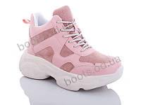 """Ботинки  женские """"Jin Lan"""" #A70-9. р-р 36-40. Цвет розовый. Оптом"""