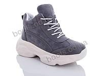 "Ботинки  женские ""Jin Lan"" #A70-12. р-р 36-40. Цвет серый. Оптом"