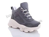 "Ботинки  женские ""Jin Lan"" #A70-26. р-р 36-40. Цвет серый. Оптом"