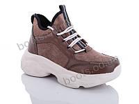 """Ботинки  женские """"Jin Lan"""" #A71-17. р-р 36-40. Цвет коричневый. Оптом"""