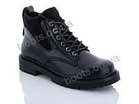 """Ботинки  женские """"Jin Lan"""" #A72-9. р-р 36-41. Цвет черный. Оптом"""