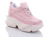 """Кроссовки  женские """"Jin Lan"""" #B56-5. р-р 36-40. Цвет розовый. Оптом"""