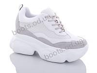 """Кроссовки  женские """"Jin Lan"""" #B56-8. р-р 36-40. Цвет белый. Оптом"""
