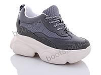 """Кроссовки  женские """"Jin Lan"""" #B56-10. р-р 36-40. Цвет серый. Оптом"""