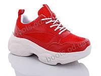 """Кроссовки  женские """"Jin Lan"""" #B50-11. р-р 36-40. Цвет красный. Оптом"""
