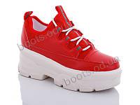 """Кроссовки  женские """"Jin Lan"""" #B51-6. р-р 36-40. Цвет красный. Оптом"""