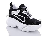 """Кроссовки  женские """"Jin Lan"""" #B56-15. р-р 36-40. Цвет черный. Оптом"""