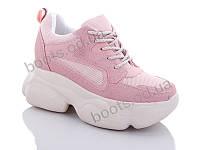 """Кроссовки  женские """"Jin Lan"""" #B56-17. р-р 36-40. Цвет розовый. Оптом"""