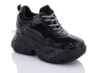 """Кроссовки  женские """"Jin Lan"""" #B56-24. р-р 36-40. Цвет черный. Оптом"""