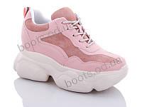 """Кроссовки  женские """"Jin Lan"""" #B56-27. р-р 36-40. Цвет розовый. Оптом"""