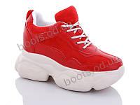 """Кроссовки  женские """"Jin Lan"""" #B56-28. р-р 36-40. Цвет красный. Оптом"""