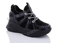"""Кроссовки  женские """"Jin Lan"""" #B52-7.205-2. р-р 36-40. Цвет черный. Оптом, фото 1"""