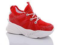 """Кроссовки  женские """"Jin Lan"""" #B52-11.205-2D. р-р 36-40. Цвет красный. Оптом"""