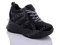 """Кроссовки  женские """"Jin Lan"""" #B52-23. р-р 36-40. Цвет черный. Оптом"""