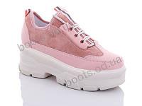 """Кроссовки  женские """"Jin Lan"""" #B51-10. р-р 36-40. Цвет розовый. Оптом"""