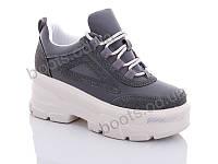 """Кроссовки  женские """"Jin Lan"""" #B51-15. р-р 36-40. Цвет серый. Оптом"""