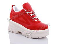 """Кроссовки  женские """"Jin Lan"""" #B51-17. р-р 36-40. Цвет красный. Оптом"""