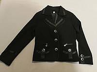 Чёрный школьный пиджак для девочки размер 32, фото 1