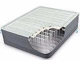 Двуспальная надувная кровать Intex 64906 (152 x 203 x 46 см) PremAire Airbed + Встроенный электронасос 220В, фото 2