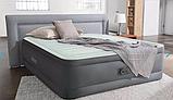 Двуспальная надувная кровать Intex 64906 (152 x 203 x 46 см) PremAire Airbed + Встроенный электронасос 220В, фото 4