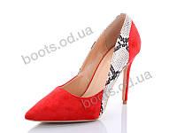 """Туфли женские  женские """"Башили"""" #P695-4. р-р 36-41. Цвет красный. Оптом"""