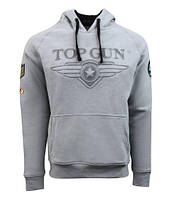 Толстовка Top Gun 3D Logo Hoodie TGD1912 (Grey)
