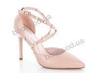 """Туфли женские  женские """"PTPT"""" #X114-9. р-р 35-40. Цвет бежевый. Оптом"""